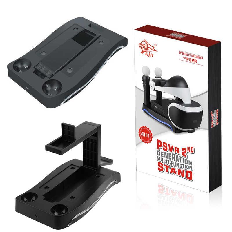 1 шт. игровых аксессуаров игровые зарядная док-станция Подставка держатель с Светодиодный индикатор для PS4 Очки виртуальной реальности VR PS Move игровая подставка контроллеры