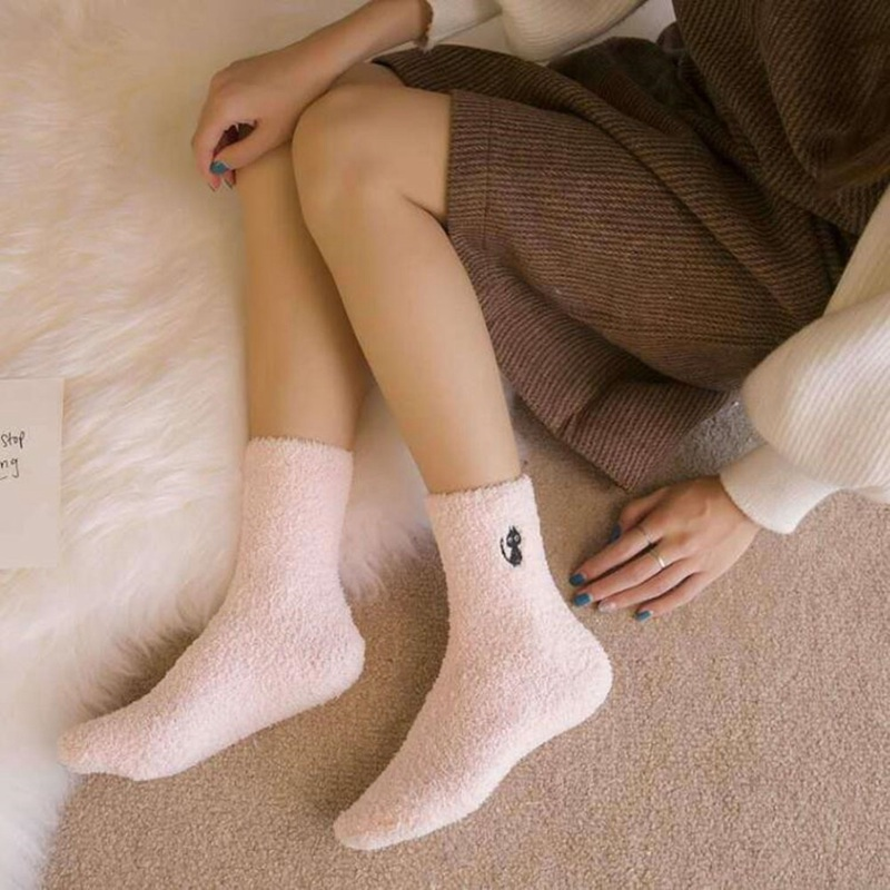 Embroidery Cat Thickening Women Cotton Lovely Plush Keep ...