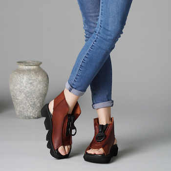 VALLU 2019 New Arrival Summer Women's Sandals Platform Shoes Lady Causal Shoes Ladies Genuine Leather Sandals - DISCOUNT ITEM  50% OFF All Category