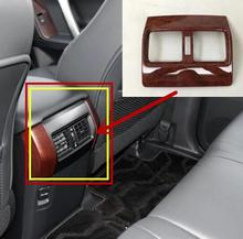 For Toyota Prado 2010-17 ABS Plastic Car Back Rear Air Condition Outlet Vent Frame Cover Trim sticker Car Accessories Styling decorative carbon mesh sticker for car air condition vent black grey 2 pcs