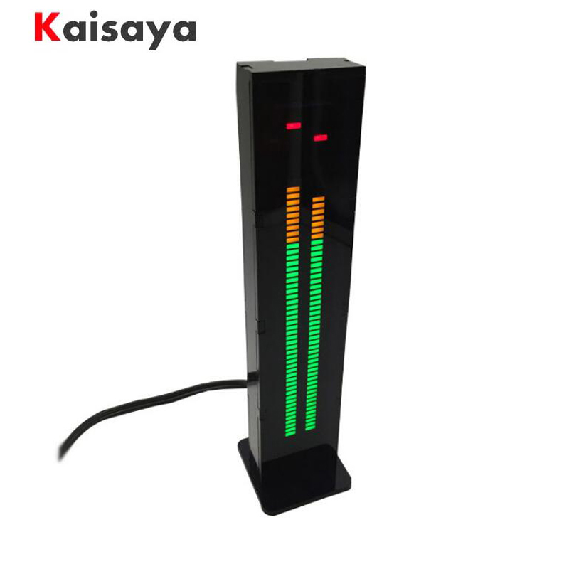 AS60 Dual 60 Professional LED Level Volume Display Music Spectrum Electronic DIY Kits Light VU Table ask11 sector pointer level indicator vu table led music spectrum electronic diy kit