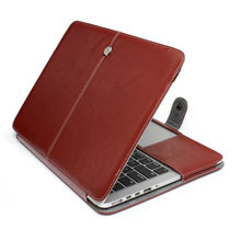 2016 PU Leather Laptop Sleeve Bag Case Smart Holster Protective Cover for Apple Macbook Air 13