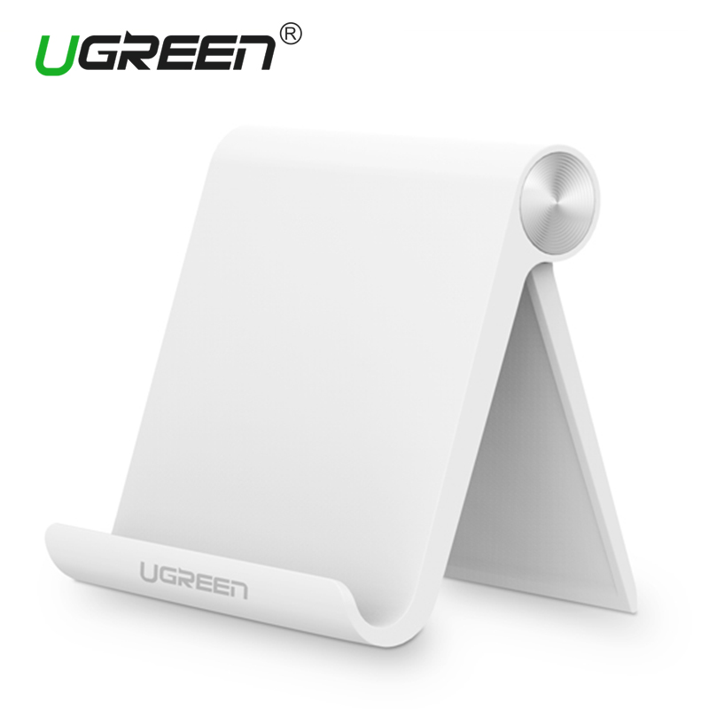 Ugreen <font><b>Universal</b></font> White Mobile Phone Stand Flexible Desk Phone Holder For iPad iPhone Sony Nokia HTC Cellphone And Tablet Stand