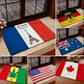 Новинка  Франция  Эйфелева башня  Канада  флаг Австралии  коврики для спальни  домашний ковер  напольные ковры  коврики для гостиной  3D  кухон...