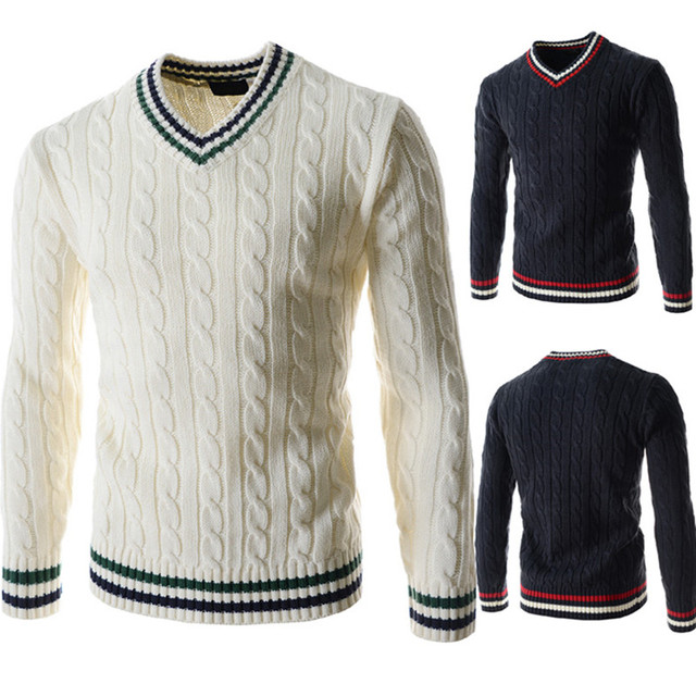 Camisolas da Caxemira Dos Homens Frete Grátis Nova Marca do Desenhador de moda Com Decote Em V camisas Pulôveres de Cashmere e lã pullover masculino