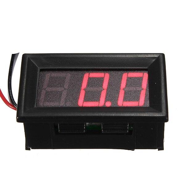 все цены на Mini Digital Voltmeter DC 0-10/30/200V Panel Amp Volt Voltage Meter Tester 0.56