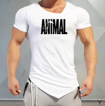 Muscleguys Mens T Shirts Golds Animal gyms Brand Fitness Bodybuilding Workout Clothes Man Cotton Sporting T