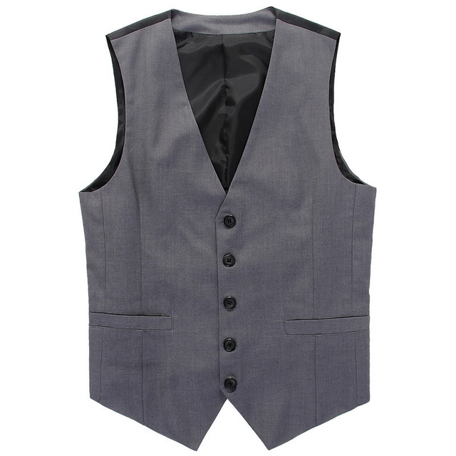 Hot Sale 2016 High Quality Men's Vest Beckham Same Paragraph Vest Casual Suit vest Waistcoat