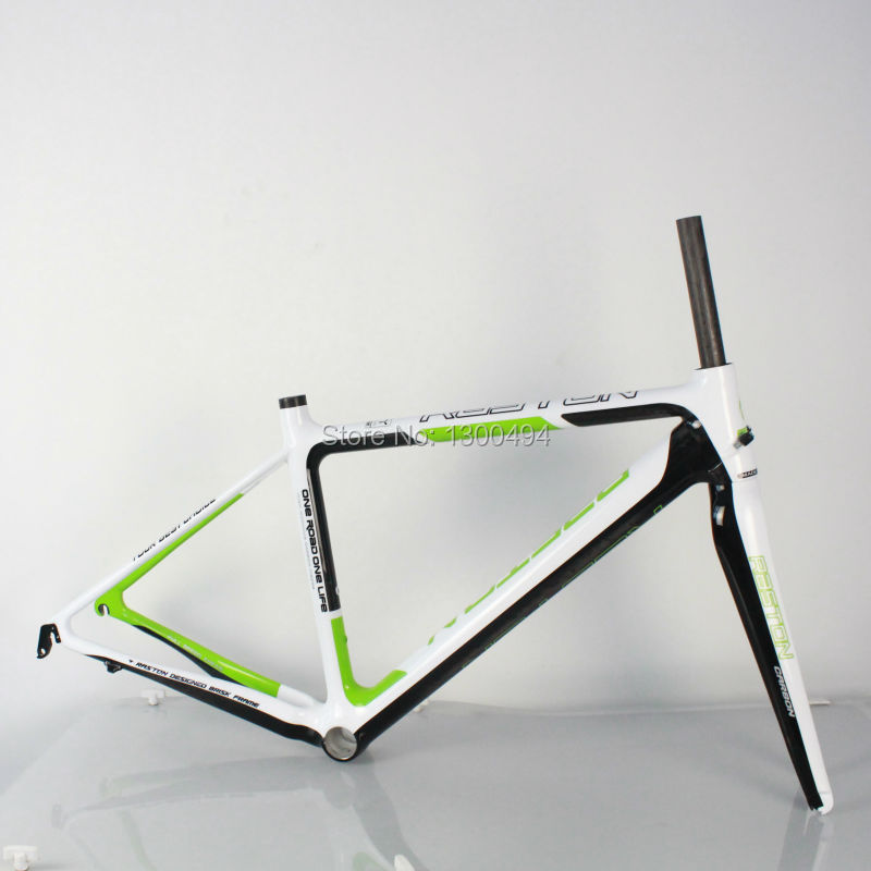 Outdoor Cycling Carbon Road Frame Model:KQ-RB106R 700C Logos Finish Fork Included Factory Outlets