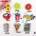 DIY Creativo de la Historieta Harajuku Estilo Lindo Dibujos de Frutas de Acrílico Broche Insignia de Acrílico Taza de Café Pan Accesorios de La Joyería