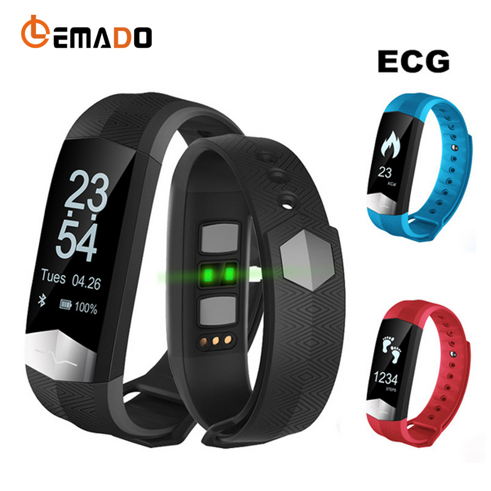 Lemado CD01 Sport Smartband ECG Heart Rate Blood Pressure Smart Band Fitness Tracker Smart Bracelet Wristband for IOS Android ceelo green heart blanche cd