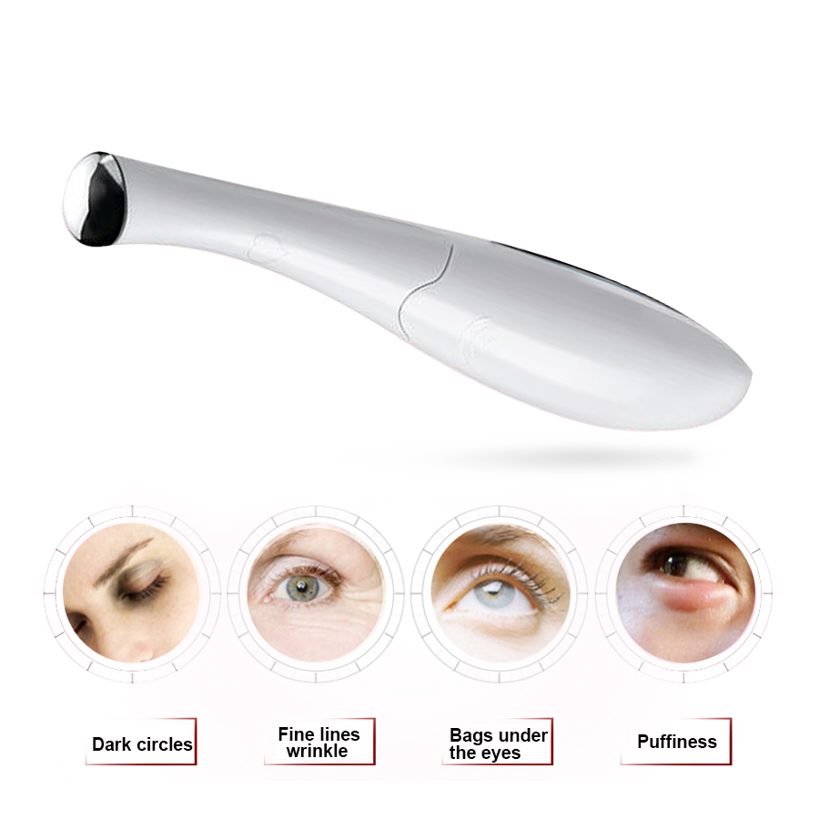 Electric vibration eye massage Stick Thin Face Anti-aging tightening eye skin Beauty Care for Dark Circle Puffiness &Wrinkle healthsweet 24k gold mini massage device electric eye massager facial vibration thin face magic stick anti bag pouch wrinkle pen