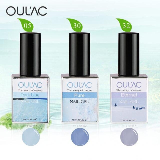 Lo nuevo UV Led empapa del Pulimento Del Gel Del Clavo Oulac Color Natural Mejor Calidad + Mejor Precio + Mejor Serie