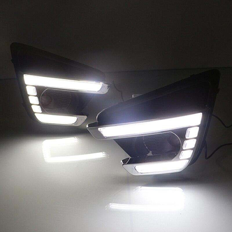 Car Flashing 2Pcs LED Daytime running light For Mazda CX 5 CX5 2012 2013 2014 2015