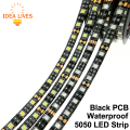 LED Strip 5050 Black PCB DC12V Flexible LED Light 60 LED/m 5m/lot RGB 5050 LED Strip.5m/lot