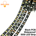 Tira LLEVADA 5050 Negro PCB DC12V Flexible de Luz LED 60 LED/m 5 m/lote RGB 5050 LED Strip.5m/lot