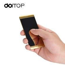 DOITOP Untra fina MP3 MP4 Jogador Inteligente A7 1.63 polegada Chave Da Tela de Toque Do Telefone Móvel Dual Band Único SIM Bar celular BT