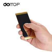 DOITOP Untra thin MP3 MP4 Player Smart Mobile Phone A7 1.63 inch Touch Screen Key Dual Band Single SIM Bar Cellphone BT