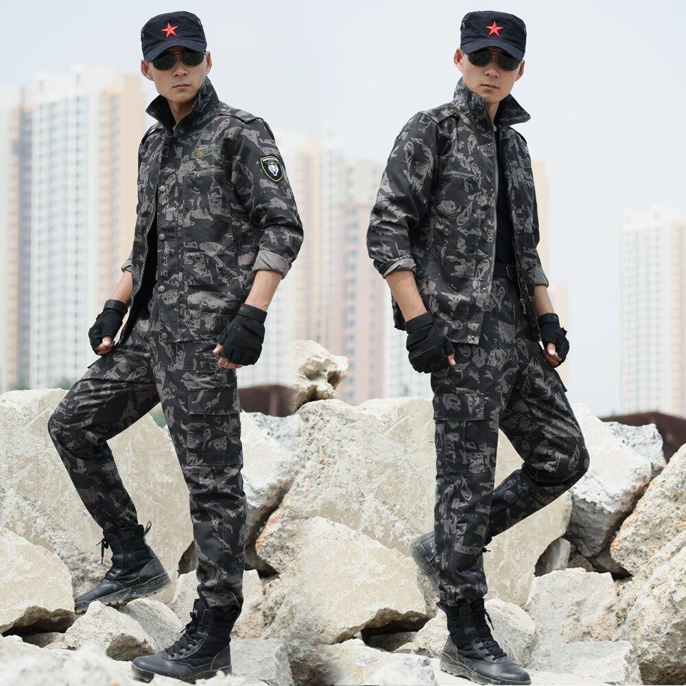 Vêtements de Camouflage en plein air hommes vêtements de chasse costumes veste + pantalon armée tactique tenue militaire uniformes Multicam survêtement