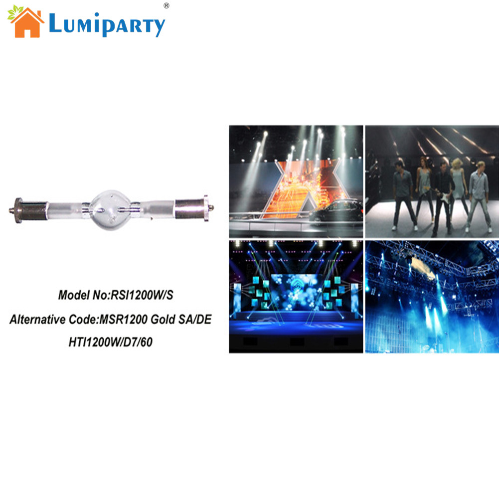 LumiParty 1200W Moving Head Light Wedding Stage Dysprosium Light Scan Bulbs Spherical Mercury Double End Metal Halide Lamp  5pcs hmi 1200 s stage scan lamp bulb double ended replacement hti 1200w gs msi 1200w