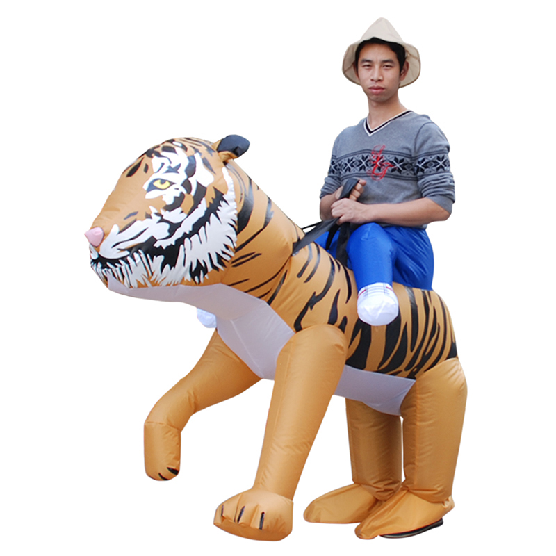Riding Tiger Fantasy Halloween Carnival Cosplay Costume Funny Inflatable Suit on AliExpress