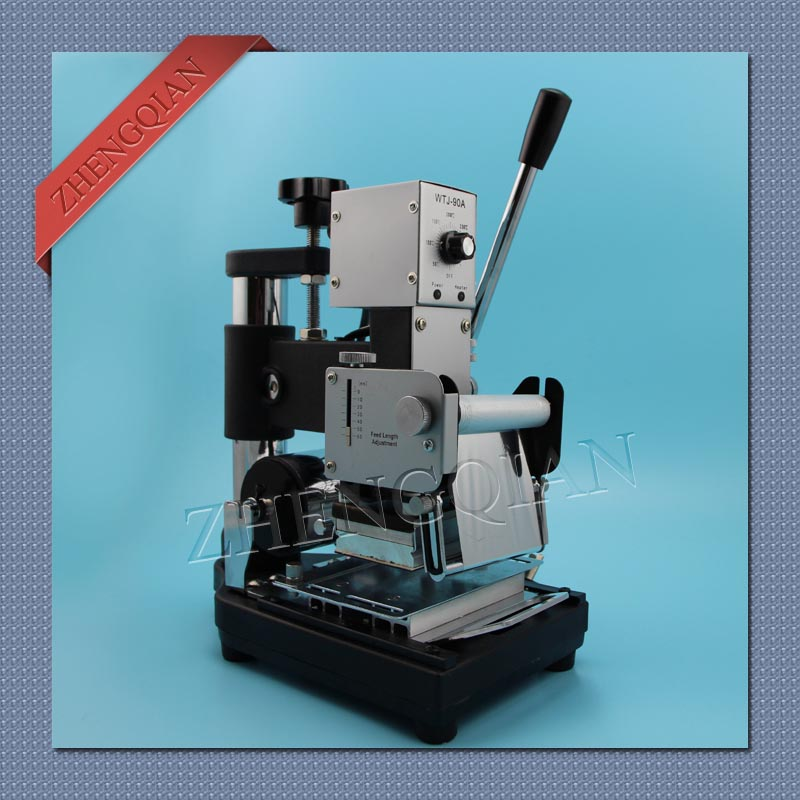Hot stamping machine for stamping id pvc card