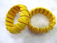 Sarı Turkuaz Taş turqouise bilezik üçgen evil turkuaz boncuk 8 inç