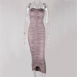Image 4 - Newasia vestido longo sem ombro para festa, vestido feminino sexy para festa, verão 2019, slim