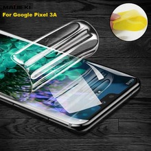ด้านหน้าฟิล์มHydrogelสำหรับGoogle Pixel 4A 4 3A XL 3XL 3 2XL 2 4xl Full Cover TPU Nano หน้าจอป้องกันฟิล์ม