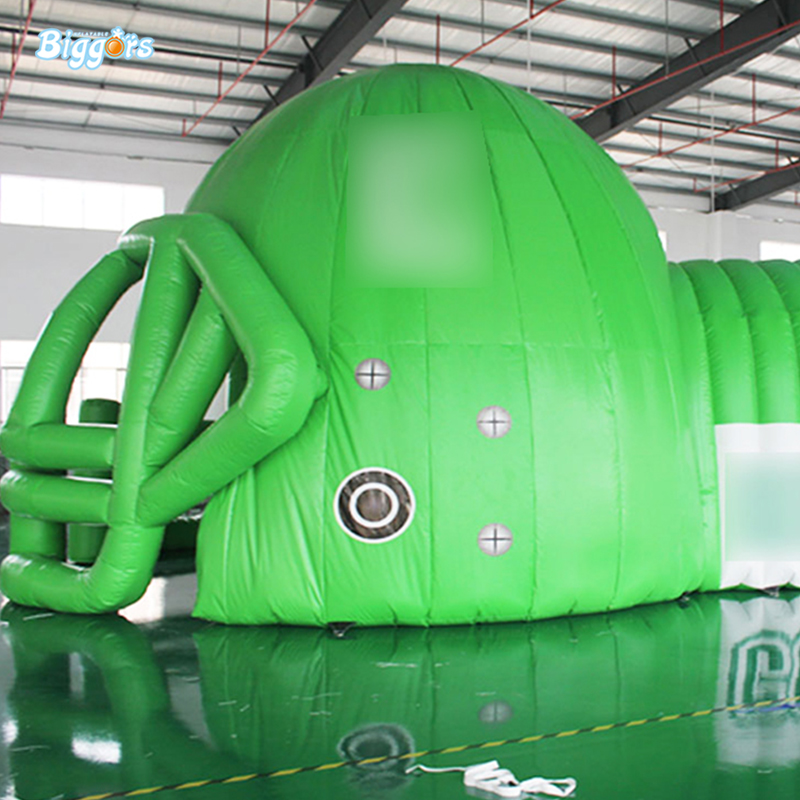 PVC Inflatable Football Helmet Tent Sport Tennis Blast Tunnel