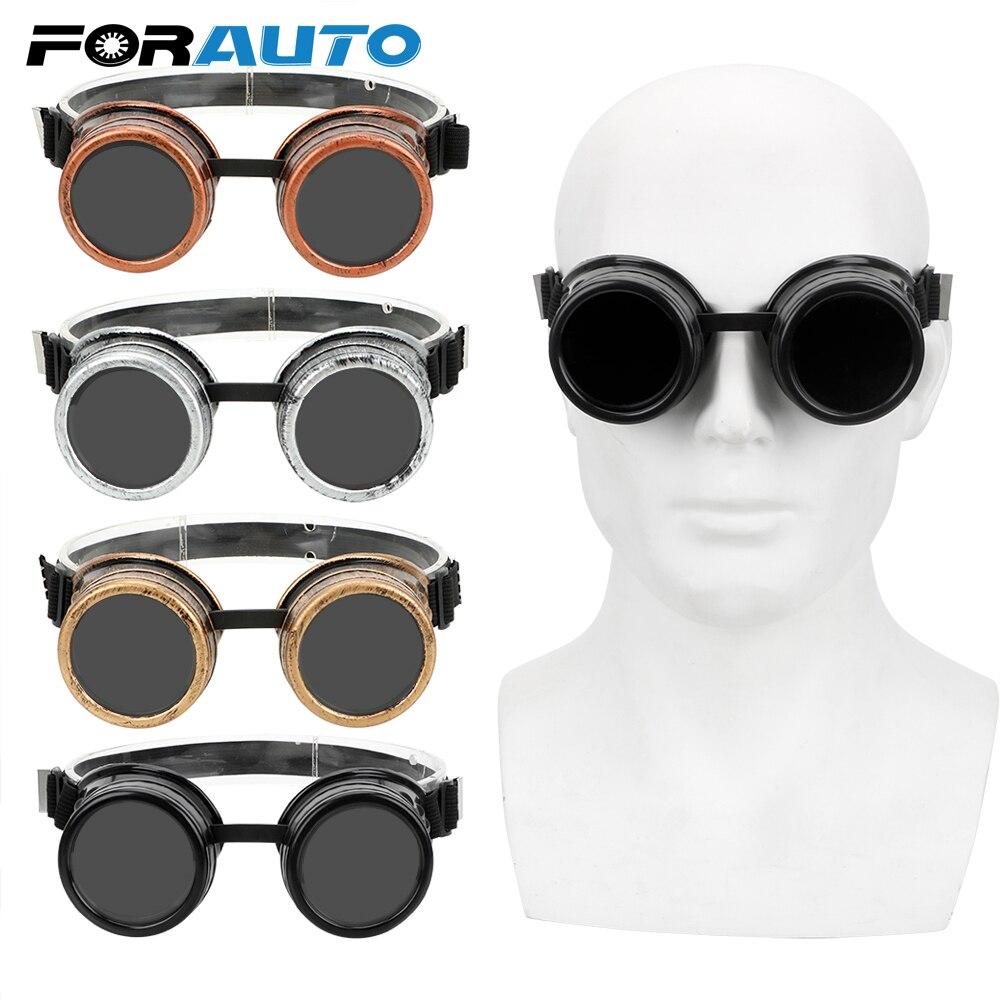 Мужские винтажные очки в стиле стимпанк FORAUTO, регулируемые очки в стиле панк, готика, ретро