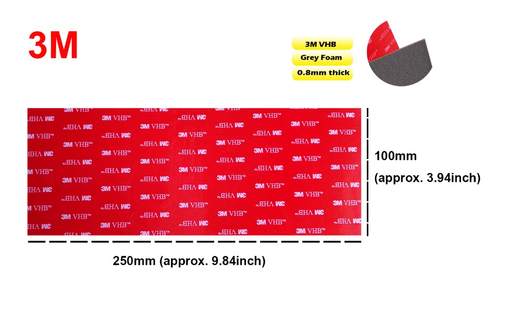 1 sheet Extremely Strong 3M VHB 5608A 100mm*250mm Grey Acrylic Foam Double Sided Adhesive Attachment 10cm*25cm sticker 1 sheet Extremely Strong 3M VHB 5608A 100mm*250mm Grey Acrylic Foam Double Sided Adhesive Attachment 10cm*25cm sticker