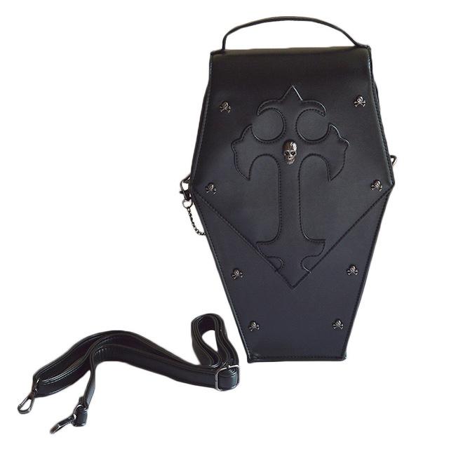 Punk Designer Steam Coffin Style Women Messenger Hand Bag PU Gift