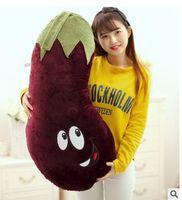 large 90cm cartoon eggplant plush toy soft cushion throw pillow birthday gift Xmas gift d2139