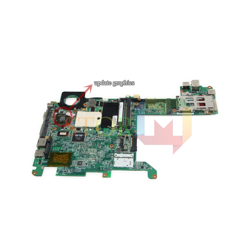 NOKOTION for hp pavilion tx2000 laptop motherboard 463649-001 441097-001 socket s1 update graphics on board ddr2 574680 001 1gb system board fit hp pavilion dv7 3089nr dv7 3000 series notebook pc motherboard 100% working