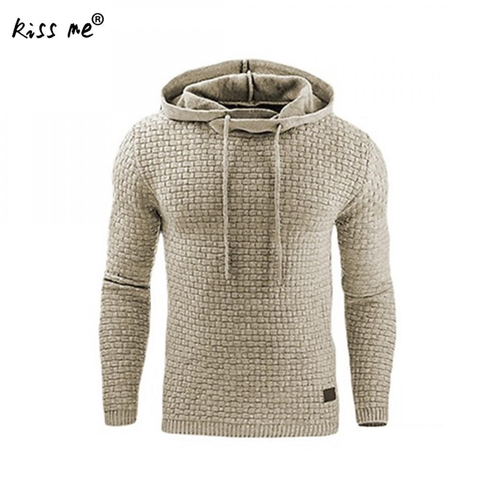 2018 Hoodies Men Hoody Male Plus Size Hooded MenS Sweatshirt Mens Hoodie Tracksuit Sweat Coat Casual Long Sleeve Solid Color