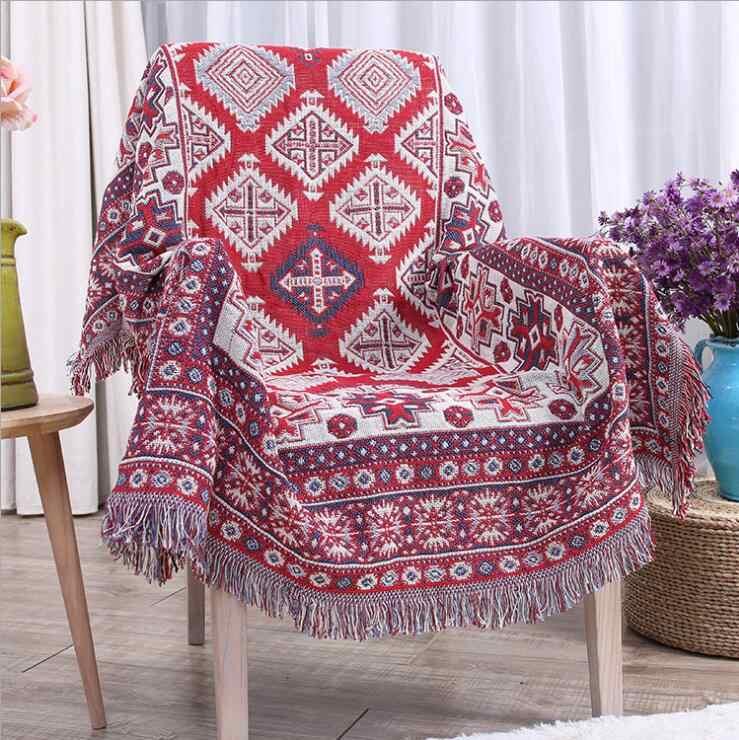Фото Плед нитки пледы одеяло для дивана диван кровать декоративные Cobertor хлопок
