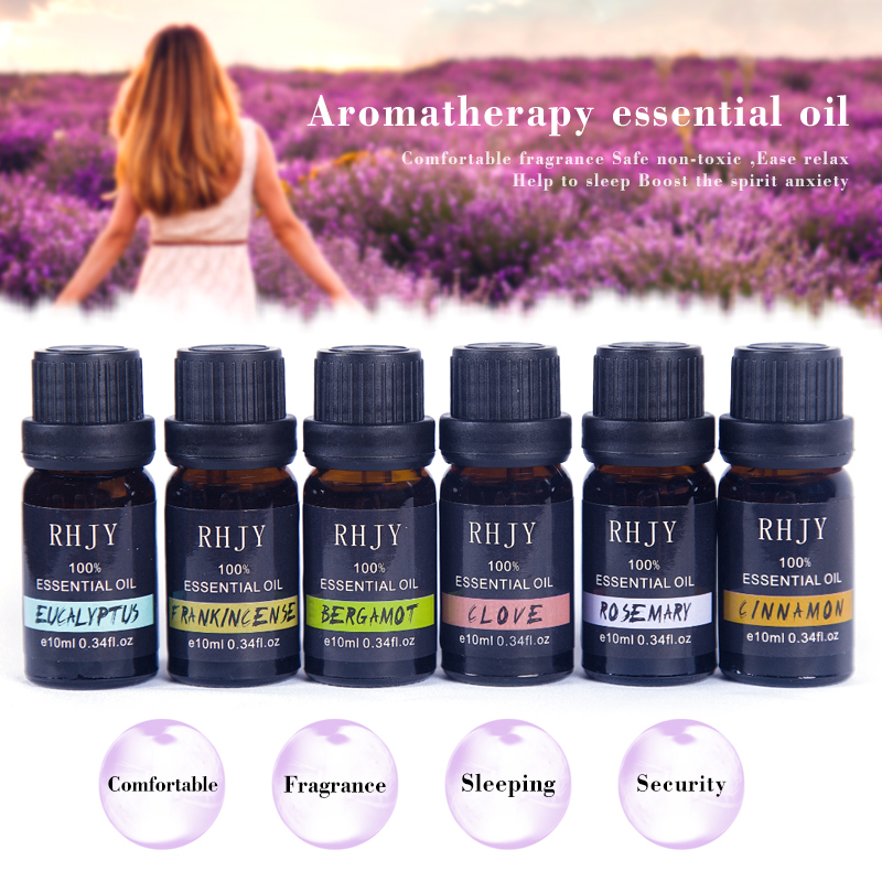 10 ML Floral Fruity Essential Oil For Aromatherapy Diffuser Lemon Oil Mint Lavender Cinnamon Tea Tree Aroma Help Sleep Oil TSLM1