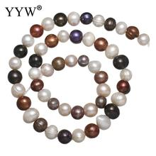 Cultured Potato Freshwater Pearl Beads 8-9mm Loose Bead Approx 0.8mm Sold Per 15 Inch Strand