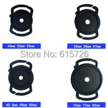 4pcs/lot 40.5/49/52/55/58/62/67/72/77/82mm Universal Lens Cap Camera Buckle Lens Cap Holder Keeper free shipping(China)