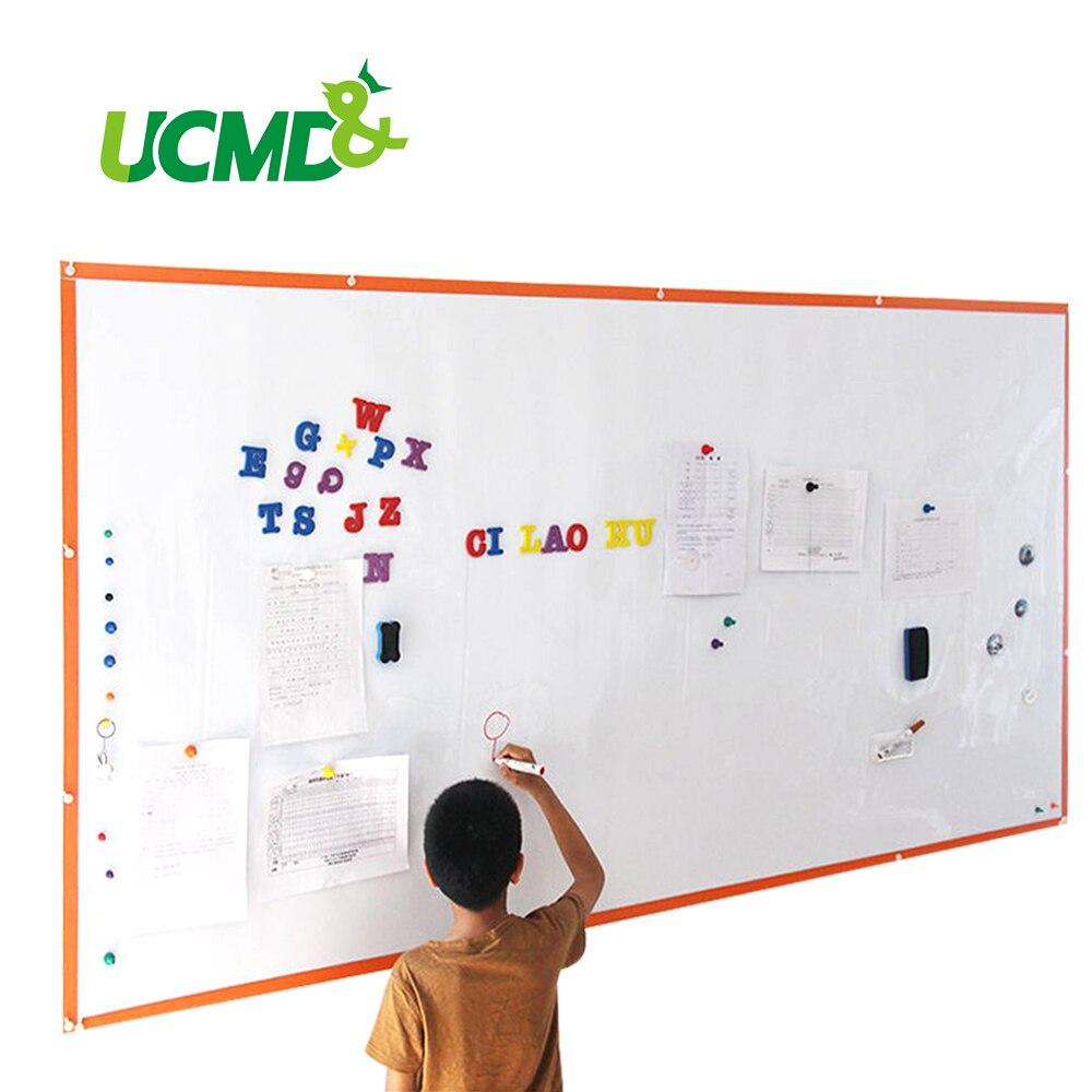 Tableau magnétique effaçable à sec de bureau d'autocollant de tableau blanc d'écriture pour le mur 120 CM * 80 CM * 0.65mm