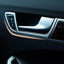 4 шт для Audi A4 B8 2009 2010 2011 2012 2013 2014 2015 стайлинга автомобилей внутренняя дверная ручка рамка Крышка отделкой двери авто Интерьер крышка