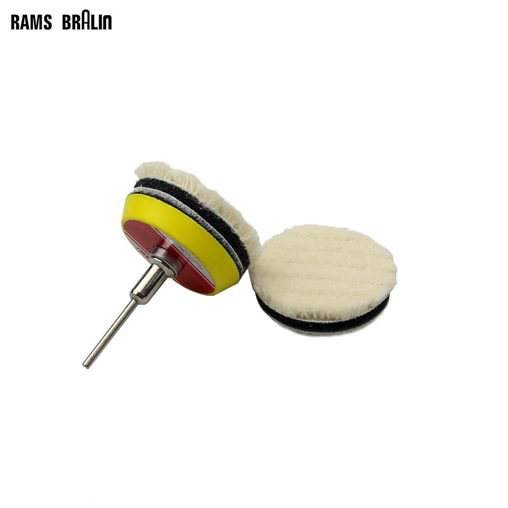 Dremel Polishing Set 2 Pieces Sponge Polishing Round Pad + 1 Piece 3mm Shaft Holder For Glazing Waxing