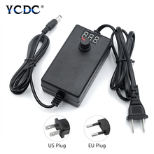 Adjustable AC To DC 3V-12V 9V-24V Universal Adapter with Display Screen Voltage Regulated Power Supply Adatpor 3 12 24 V [yxyw] hot mean well original hrp 75 3 3 3 3v 15a meanwell hrp 75 3 3v 49 5w single output with pfc function power supply