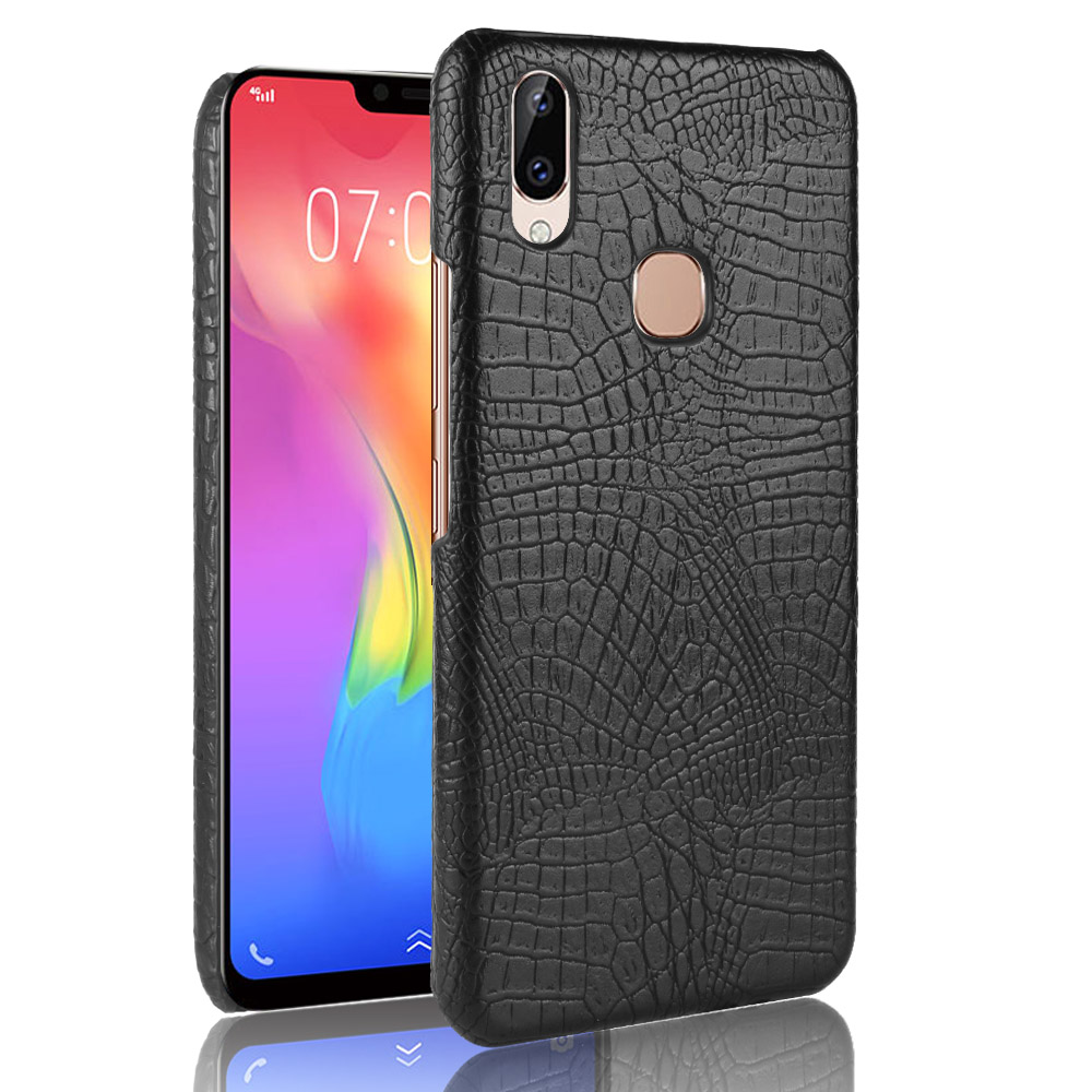 New For vivo Y83 Pro Case Retro Luxury PU Leather Crocodile Hard Skin Protective Back Cover For Vivo Y83 Pro Phone Bag Cases
