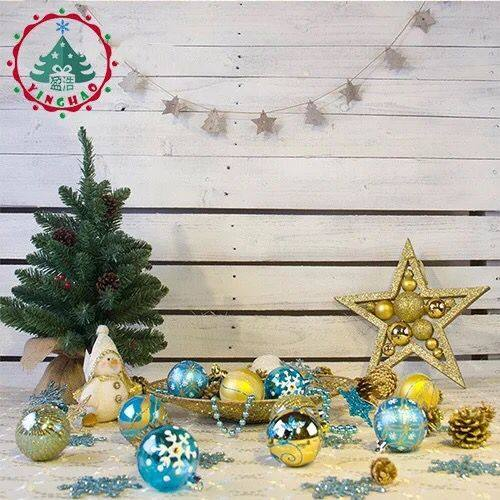 luxury painted christmas ball 6cm blue gold color christmas tree ornaments shop decoration color ball wholesale