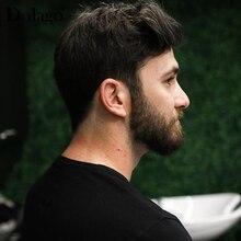 Мужские парики прочные шиньоны кружева тонкие ПУ заменить мужские Т-системы для мужчин Toupees человеческие волосы натуральные волосы remy Dolago