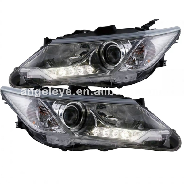 For Toyota for Camry  LED Head Lights Head lamp front light  2015 year Chrome housing for original car with HID kit LD 2014 2015 year camry v55 led bumper light for toyota v1