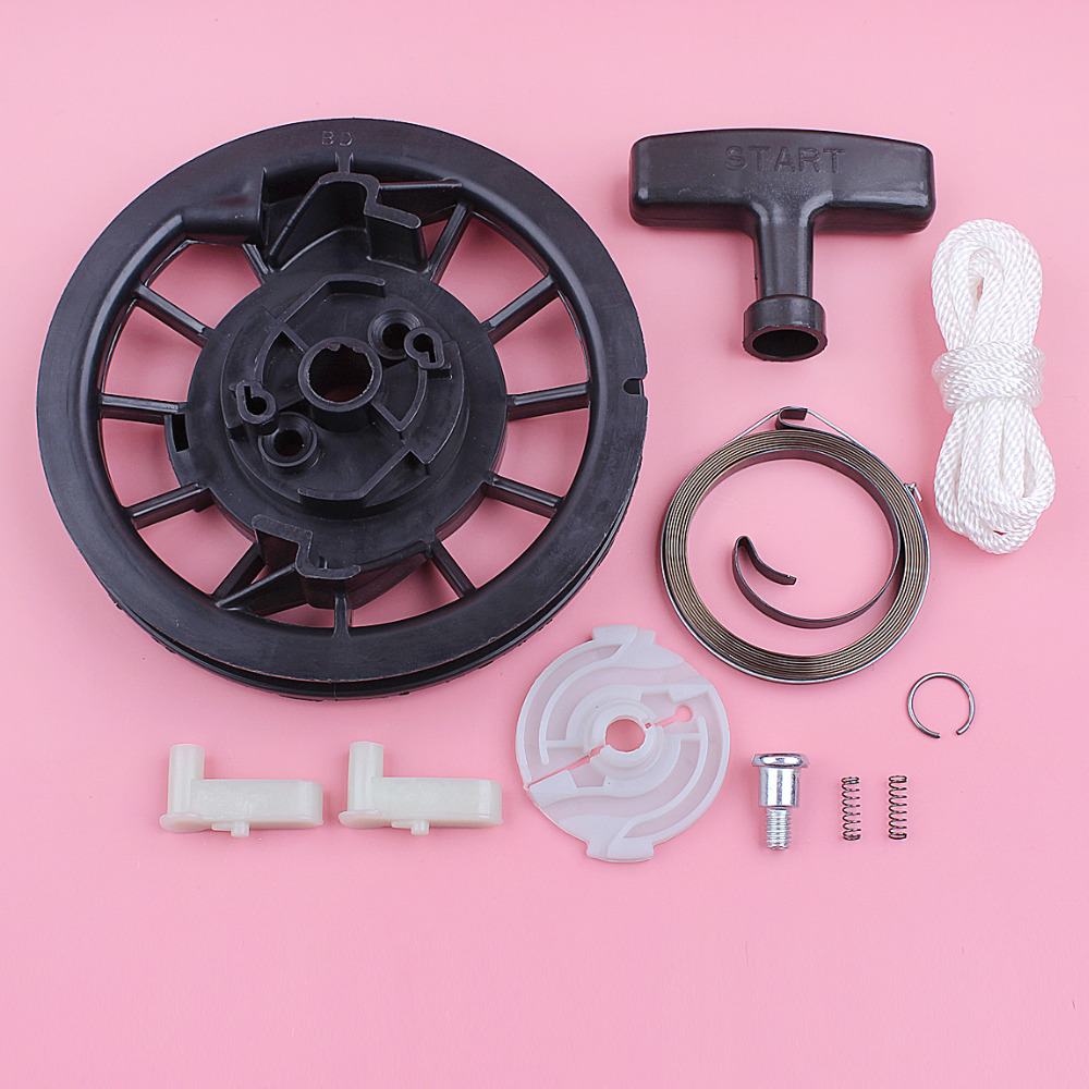 Recoil <font><b>Starter</b></font> Pulley Spring Handle Grip Rope Pawl Kit For <font><b>Honda</b></font> GX120 <font><b>GX160</b></font> GX200 Lawn Mower Engine Replace Spare Part image