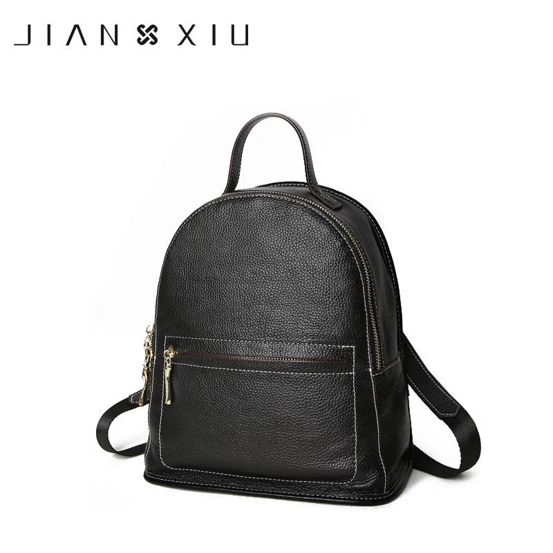 JIANXIU Brand Backpack Mochila Feminina Mochilas School Bags Women Bag Genuine Leather Backpacks Travel Bagpack Mochilas